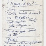 Jim's raw ideas written on the back of an envelope. Teeny Tiny & Ric & Gik were born here.